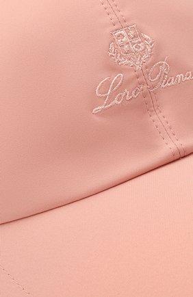 Детская бейсболка LORO PIANA розового цвета, арт. FAE8580 | Фото 3