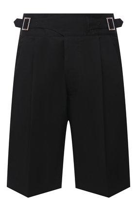 Мужские хлопковые шорты DSQUARED2 черного цвета, арт. S71MU0628/S49573 | Фото 1