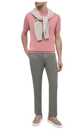 Мужской хлопковый джемпер JOHN SMEDLEY розового цвета, арт. BELDEN   Фото 2