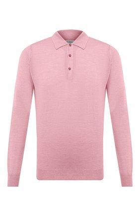 Мужское поло из шерсти и хлопка JOHN SMEDLEY розового цвета, арт. CBELPER | Фото 1