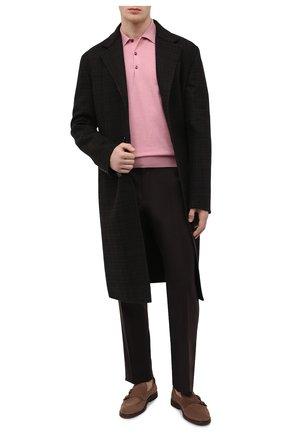 Мужское поло из шерсти и хлопка JOHN SMEDLEY розового цвета, арт. CBELPER | Фото 2