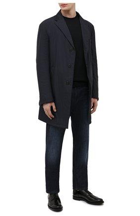 Мужской джемпер из шерсти и хлопка JOHN SMEDLEY черного цвета, арт. CMARCUS | Фото 2
