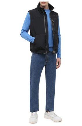Мужской джемпер из шерсти и хлопка JOHN SMEDLEY голубого цвета, арт. CMARCUS | Фото 2