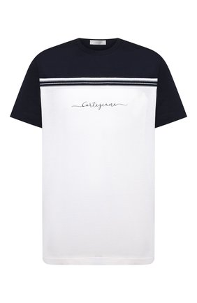 Мужская хлопковая футболка CORTIGIANI белого цвета, арт. 116604/0000/60-70 | Фото 1