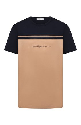 Мужская хлопковая футболка CORTIGIANI бежевого цвета, арт. 116604/0000/60-70 | Фото 1