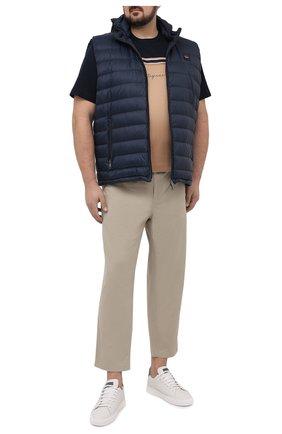 Мужская хлопковая футболка CORTIGIANI бежевого цвета, арт. 116604/0000/60-70 | Фото 2