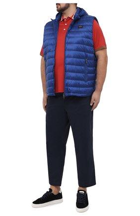 Мужское поло из хлопка и шелка CORTIGIANI красного цвета, арт. 116643/0000/60-70 | Фото 2