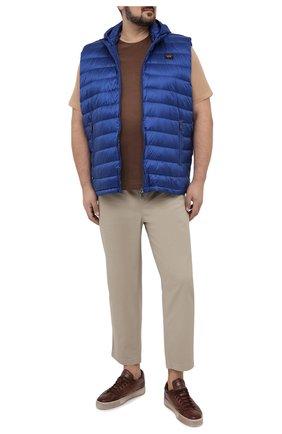 Мужская футболка из хлопка и шелка CORTIGIANI коричневого цвета, арт. 116646/0000/60-70 | Фото 2