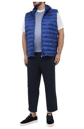 Мужская футболка из хлопка и шелка CORTIGIANI белого цвета, арт. 116646/0000/60-70 | Фото 2