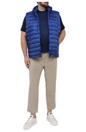 Мужская футболка из хлопка и шелка CORTIGIANI темно-синего цвета, арт. 116646/0000/60-70 | Фото 2