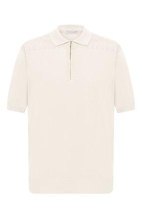 Мужское хлопковое поло CORTIGIANI белого цвета, арт. 119119/0800/60-70 | Фото 1