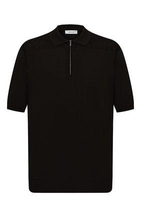 Мужское хлопковое поло CORTIGIANI черного цвета, арт. 119119/0800/60-70 | Фото 1