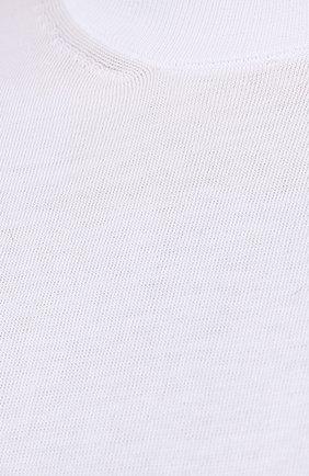 Мужской хлопковый джемпер CORTIGIANI белого цвета, арт. 119126/0500/60-70 | Фото 5 (Big sizes: Big Sizes; Мужское Кросс-КТ: Джемперы; Принт: Без принта; Рукава: Короткие; Длина (для топов): Удлиненные; Материал внешний: Хлопок; Вырез: Круглый; Стили: Кэжуэл)