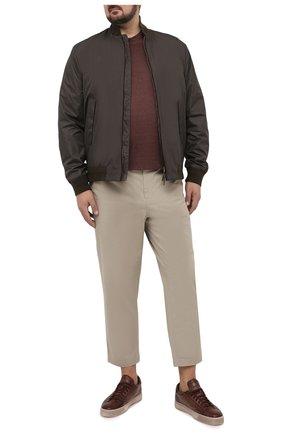 Мужская льняная футболка CORTIGIANI коричневого цвета, арт. 116660/0000/60-70 | Фото 2