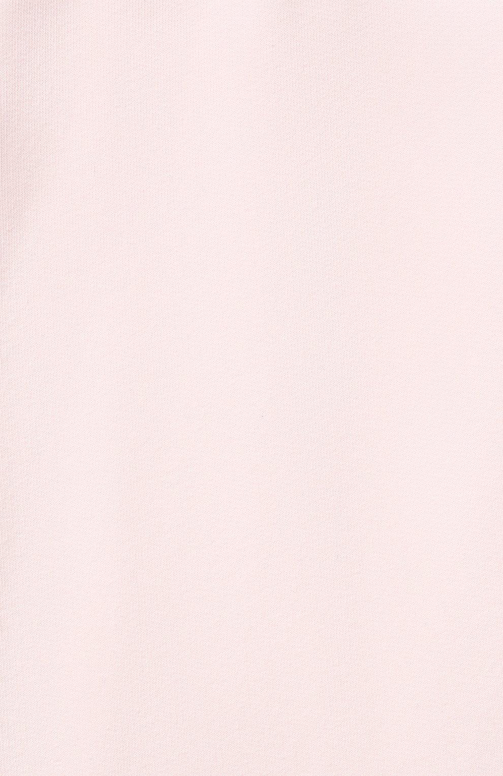 Детские хлопковые джоггеры FENDI розового цвета, арт. BUF043/8RA/12M-24M   Фото 3 (Материал внешний: Хлопок; Ростовка одежда: 12 мес   80 см, 18 мес   86 см, 24 мес   92 см)