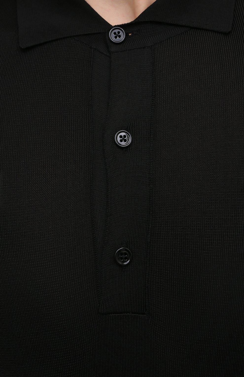 Мужское поло из вискозы TOM FORD черного цвета, арт. BWV94/TFK132 | Фото 5