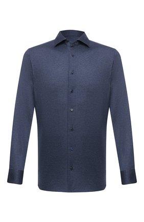 Мужская хлопковая рубашка ZILLI SPORT темно-синего цвета, арт. MFV-88001-@/ZS7663 | Фото 1