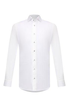 Мужская хлопковая рубашка ZILLI SPORT белого цвета, арт. MFV-88001-@/ZS5010 | Фото 1