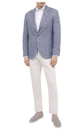 Мужская хлопковая рубашка ZILLI SPORT белого цвета, арт. MFV-88001-@/ZS5010 | Фото 2