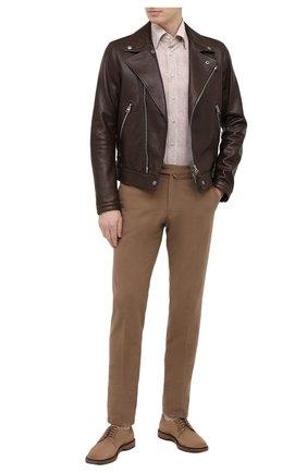 Мужская сорочка из шелка и хлопка ZILLI светло-бежевого цвета, арт. MFV-84080-G11614/0007 | Фото 2
