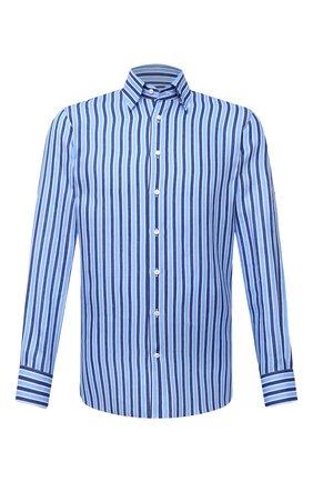 Мужская льняная рубашка ZILLI голубого цвета, арт. MFV-84063-11701/0007 | Фото 1