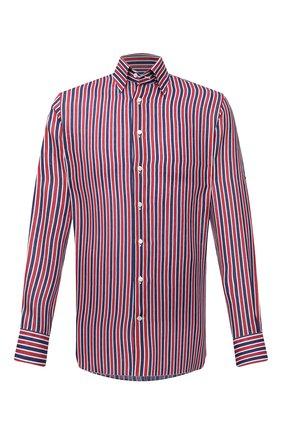 Мужская льняная рубашка ZILLI красного цвета, арт. MFV-84063-11701/0006 | Фото 1