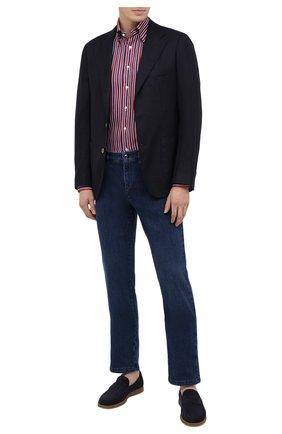 Мужская льняная рубашка ZILLI красного цвета, арт. MFV-84063-11701/0006 | Фото 2