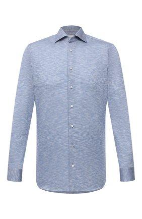 Мужская хлопковая рубашка ZILLI SPORT голубого цвета, арт. MFV-56209-@/ZS08 | Фото 1
