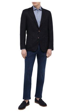 Мужская хлопковая рубашка ZILLI SPORT голубого цвета, арт. MFV-56209-@/ZS08 | Фото 2