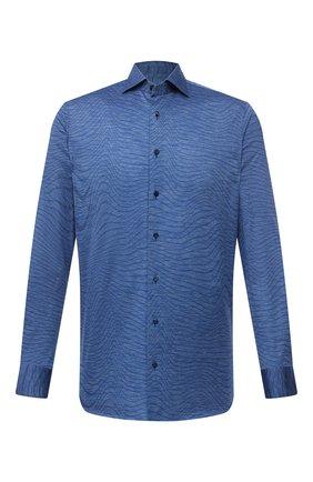 Мужская хлопковая рубашка ZILLI SPORT синего цвета, арт. MFV-56066-@/ZS08 | Фото 1