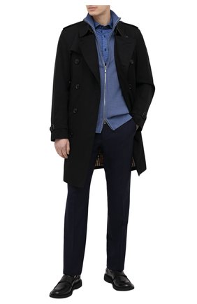 Мужская хлопковая рубашка ZILLI SPORT синего цвета, арт. MFV-56066-@/ZS08 | Фото 2