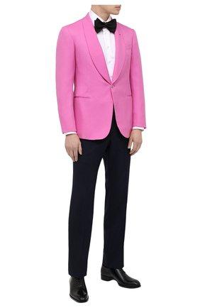 Мужская хлопковая сорочка ZILLI белого цвета, арт. MFV-4713-8436/0006 | Фото 2 (Принт: Однотонные; Стили: Классический; Случай: Вечерний; Манжеты: На пуговицах; Материал внешний: Хлопок; Рубашки М: Regular Fit; Рукава: Длинные; Длина (для топов): Стандартные; Воротник: Акула)
