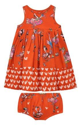 Женский комплект из платья и шорт STELLA MCCARTNEY кораллового цвета, арт. 602544/SQK84 | Фото 1