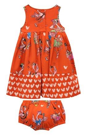 Женский комплект из платья и шорт STELLA MCCARTNEY кораллового цвета, арт. 602544/SQK84 | Фото 2