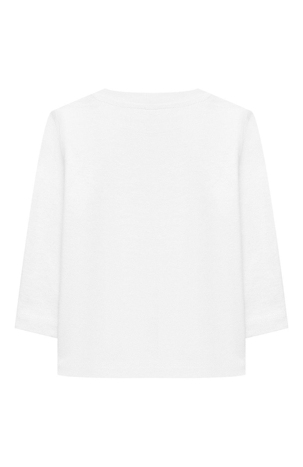 Детский хлопковый лонгслив STELLA MCCARTNEY белого цвета, арт. 602281/SQJ83   Фото 2