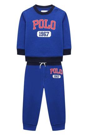 Детский комплект из свитшота и брюк POLO RALPH LAUREN синего цвета, арт. 320836008 | Фото 1