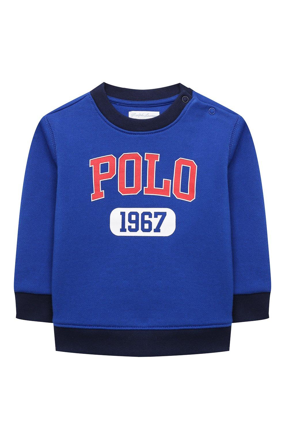 Детский комплект из свитшота и брюк POLO RALPH LAUREN синего цвета, арт. 320836008 | Фото 2