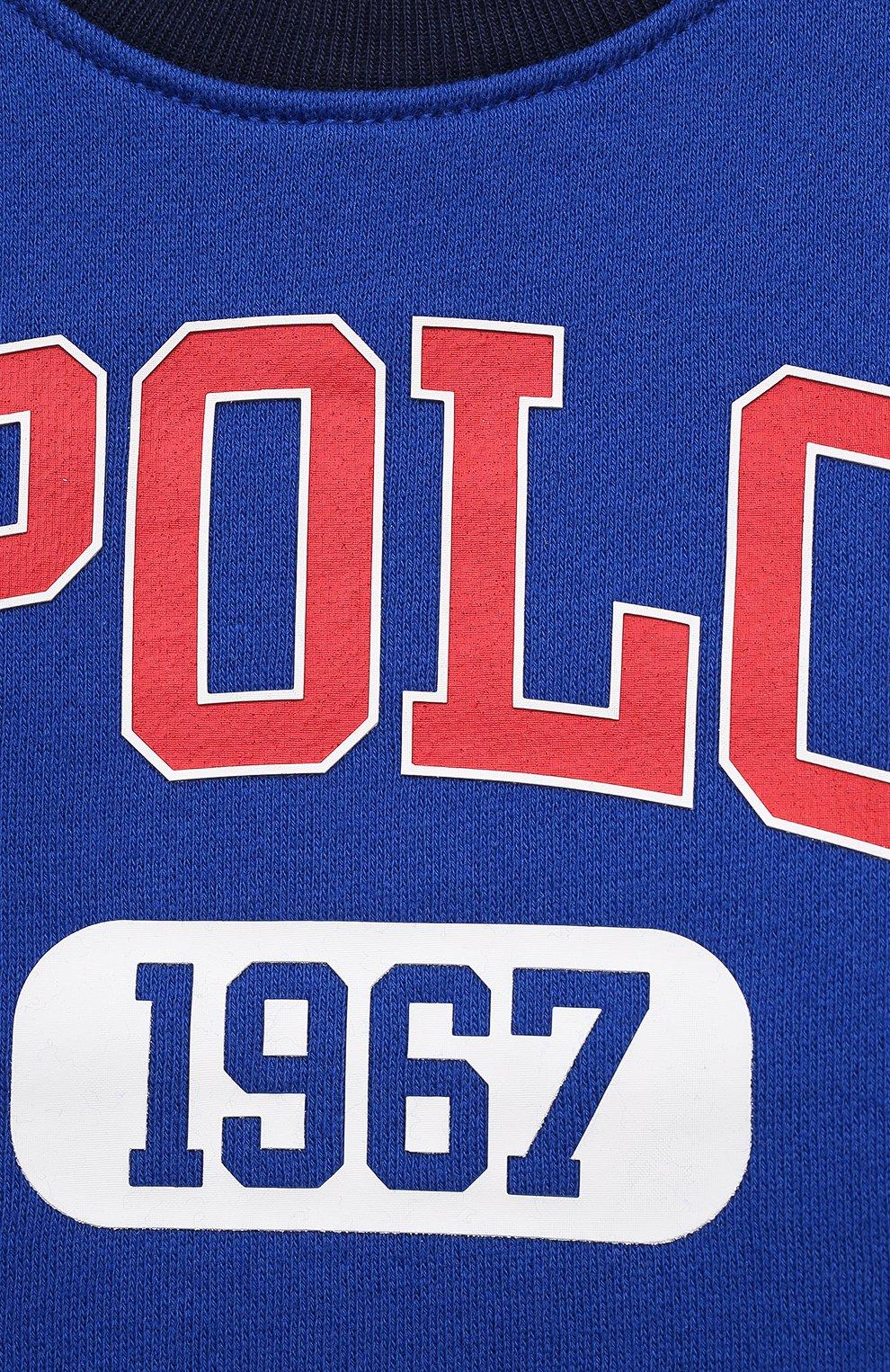 Детский комплект из свитшота и брюк POLO RALPH LAUREN синего цвета, арт. 320836008 | Фото 6