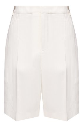 Женские шерстяные шорты SAINT LAURENT белого цвета, арт. 648747/Y1A57 | Фото 1