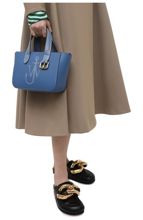 Женский сумка-тоут belt mini JW ANDERSON голубого цвета, арт. HB0360 LA0060 | Фото 2