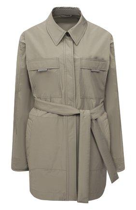 Женская куртка BRUNELLO CUCINELLI хаки цвета, арт. MB5749610 | Фото 1