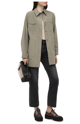 Женская куртка BRUNELLO CUCINELLI хаки цвета, арт. MB5749610 | Фото 2