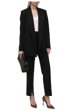 Женские кожаные туфли romy 100 JIMMY CHOO леопардового цвета, арт. R0MY 100/LPU | Фото 2