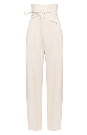 Женские льняные брюки JACQUEMUS кремвого цвета, арт. 211PA05/101110 | Фото 1