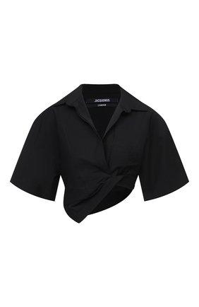 Женская хлопковая рубашка JACQUEMUS черного цвета, арт. 211SH08/114990 | Фото 1