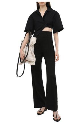Женская хлопковая рубашка JACQUEMUS черного цвета, арт. 211SH08/114990 | Фото 2