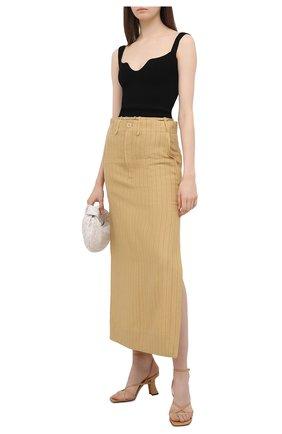 Женская льняная юбка JACQUEMUS желтого цвета, арт. 211SK04/112851 | Фото 2