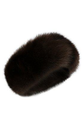 Женская повязка из меха соболя KUSSENKOVV коричневого цвета, арт. 163500003020   Фото 1 (Материал: Натуральный мех; Женское Кросс-КТ: Шапка-тюрбан)