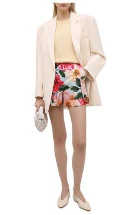 Женские хлопковые шорты DOLCE & GABBANA розового цвета, арт. FTASXT/HS5H9   Фото 2 (Женское Кросс-КТ: Шорты-одежда; Материал внешний: Хлопок; Стили: Романтичный; Длина Ж (юбки, платья, шорты): Мини)