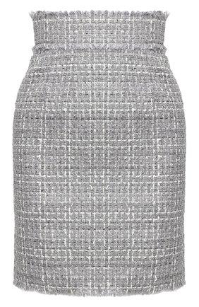 Женская юбка DOLCE & GABBANA серого цвета, арт. F4BWWT/FQ0AB | Фото 1